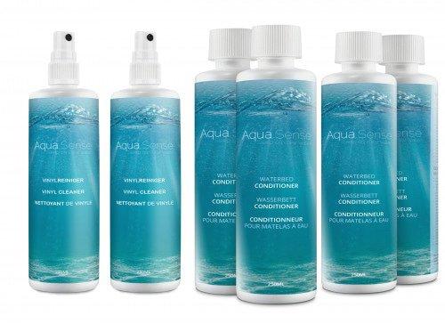 Aqua Sense Wasserbett Conditioner 4 x 250 ml & Wasserbett Vinyl Cleaner 2 x 250 ml